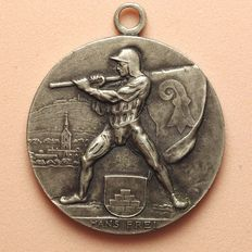 Switzerland - Silver Medal 1922 by Hans Frei 400 Years of Unification of Riehen and Basel