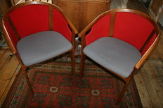 Rud Thygesen & Johnny Sørensen for Magnus Olesen - Two vintage lounge chairs.