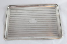 A Silver tray made in Birmingham - England - in 1924