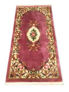 Beautiful oriental rug from China: Kangxi Aubusson 184 x 91 cm