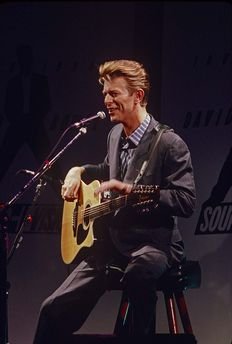 David Bowie, six unseen colour photographs, press-concert Roxy Theatre Hollywood March 1990 Sound + Vision-Tour
