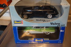 Revell - scale 1/18 - Wartburg 311 Coupè - Green white and Volvo PV544 - Black