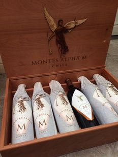 2000 Montes Alpha M Single Vineyard - Estate Bottled - 6 bottles in wooden case