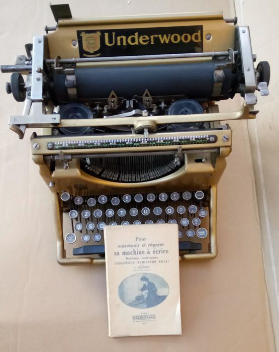 Machine crire underwood universal n 5 catawiki - Machine a ecrire underwood ...