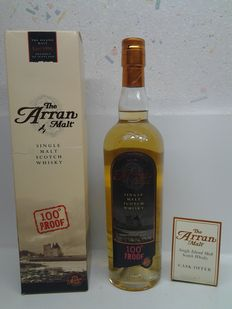 The Arran 8 years 100 proof single malt.