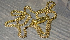 Old gold link necklace with a large gold barrel clasp – 8.5 g