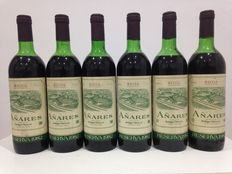 Lot of six bottles of Rioja: 6 Añares Reserva 1982