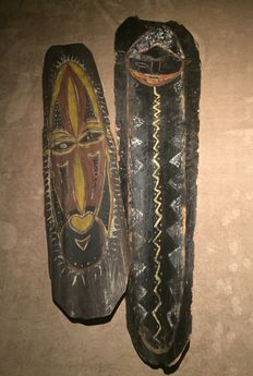 Two wall plates -Kwoma/Nukuma - Washkuk area - Upper Sepik - Papua New Guinea