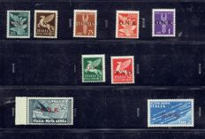 Italy, 1944 – Airmail, GNR Sassone S1521 with reverse 124 overprint