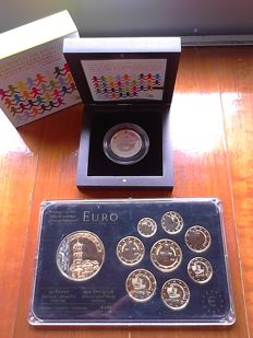 Portugal and Cyprus - 5 Euro 2007 + Yearset (Prestige) 2009