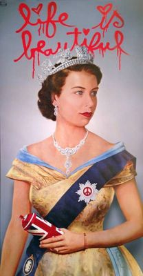 Mr Brainwash - Life Is Beautiful Queen Elizabeth II