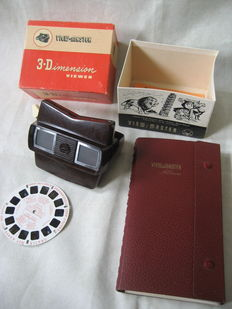 Sawyer View-Master with box & View-Master album & 23 reels