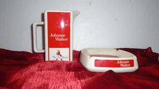 Vintage Johnnie Walker jug + ashtray