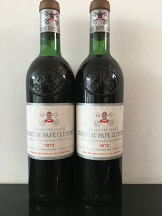 1972 Chateau Pape Clement, Grand Cru Classe Graves - 2 bottles