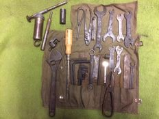 Complete tool roll for a vintage Harley-Davidson or English motorcycle