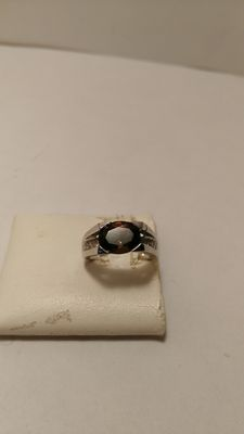 Ring in 925 silver with quartz