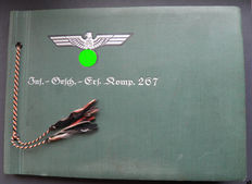 WW2 photo album - very rare album - infantry Squadron replacement company 267, many tanks, guns, planes, SdKfz, guns