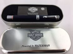 Harley Davidson fountain pen dark blue, in original packaging, heavy version.   Mint Condition.