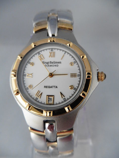 Krug Baumen Regatta Diamond – men's wristwatch – never worn