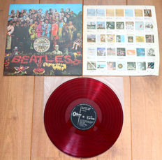 "The Beatles- Sgt. Pepper's Lonely Hearts Club Band lp/ 1st Japanese pressing on RED (""low noise"") wax/ VG+"