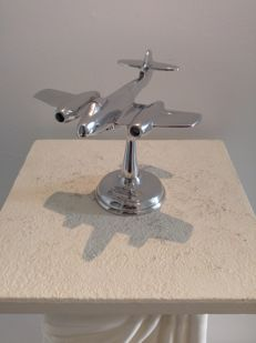 "Gloster Meteor 1945 aka ""Meatbox"" - Desktop Model - recycled airplane aluminum"