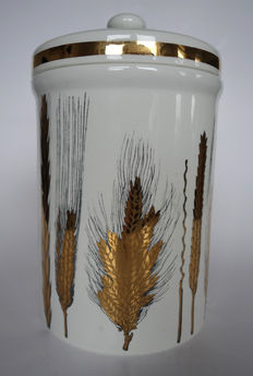 Piero Fornasetti - box with lid, with decoration of barley.