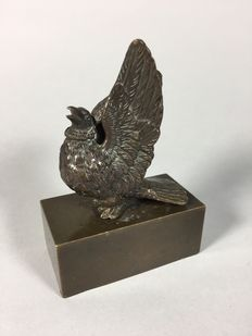 Bronze sculpture of a bird - possibly Vienna - early 20th century