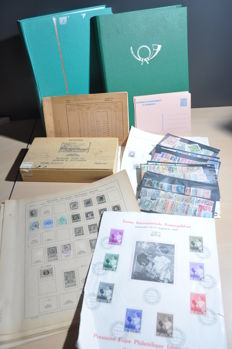 Belgium and areas – Batch on album sheets, in stock books, on cards, Fiscal stamps and circular booklets