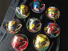8 Corneille cups and saucers