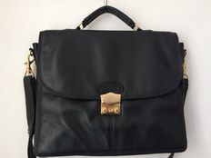 Picard - Black leather briefcase