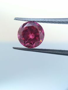0.43 carat fancy vivid Pink-Purple diamonds. Clarity -VS2