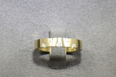 14 kt gold ring with 5 diamonds 0.100 ct