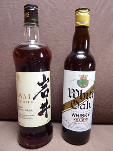2 bottles - Japanese Whisky - Iwai Tradition 0,7l  + Eigashima White Oak Gold   0,55l