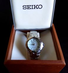 Seiko - SMA033 - Mens Watch - Stainless Steel - Kinetic Auto Relay White Dial - 2011