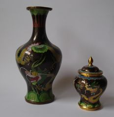 Two cloisonné vases - China - second half of the 20th century