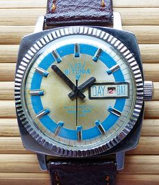 BITUNIA 23 Space Style with date - Men's wristwatch from the 70s - rare collector's item