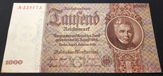 Germany - 1000 Reichsmark 1936 - Pick 184 - Rosenberg 177