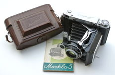 Moskva-5 (Moscow-5) - 6x9/6x6 folding camera (1958, USSR)