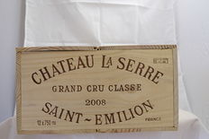 2008 Chateau La Serre, Saint-Emilion Grand Cru Classe – 12 bottles in OWC.