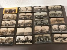 30 Stereograph cards - early 1900 - Italy, Mexico & other countries