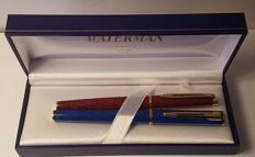Waterman luxury fountain pens - Blue Apostrophe and Cognac Hemisphere