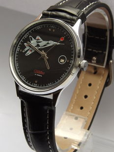 Slava Mig-29 Fighter aircraft men's wristwatch 1989 Made in USSR