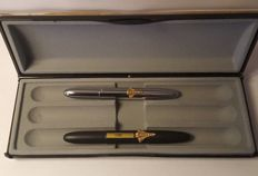 2x Fisher Space Pen Usa - Black and silver colour
