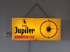 Jupiler Malz Lager beer advertising light/clock