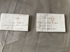 Belgium 1705/1719 - Two forerunners, letter from Dinant to Antwerp and a letter from Antwerp to Amsterdam