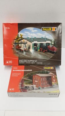 Faller H0 - 120235/190186 locomotive shed kit and DB office