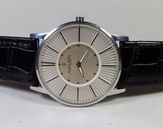Avalieri Italian Design - Two Silver Tone - Big Slim - 1990 - Men's Wristwatch