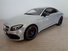 GT Spirit - Scale 1/18 - Mercedes-Benz C63 S AMG Coupe W205 Silver 2016