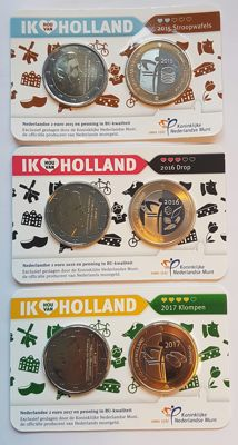 The Netherlands - Holland Coincard 2015, 2016 and 2017 (3 pieces)
