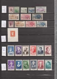 France 1918/1955 - Selection of stamps